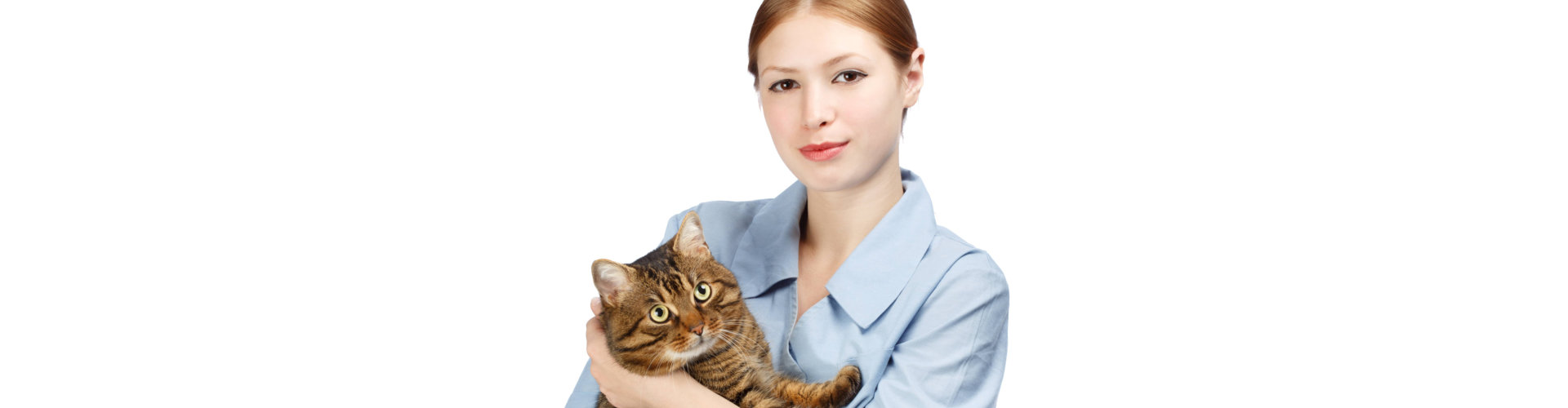 lady holding a cat